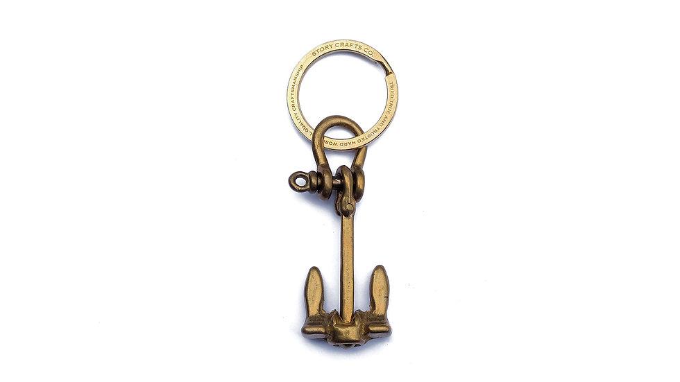 麥哲倫黃銅船錨匙扣
