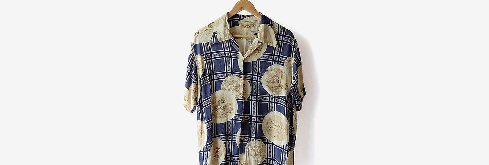 Sun Surf WIND AND SEA 日本製和柄夏威夷襯衫