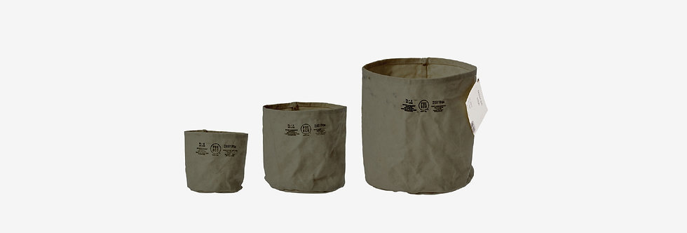 Puebco 帆布防水置物袋 - 綠