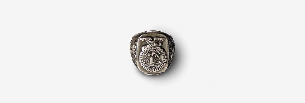 70's FFA未來農民會純銀戒指