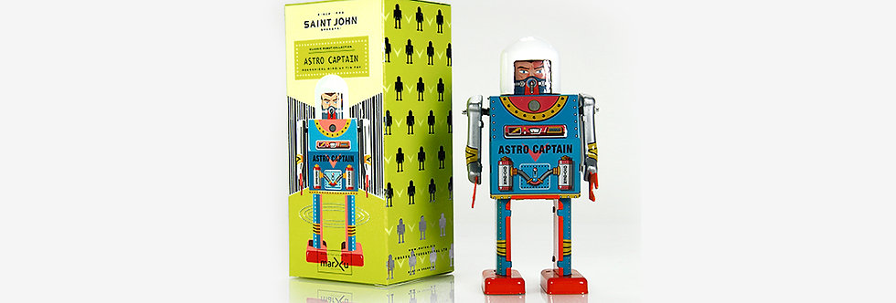 Saint John 鐵皮玩具 - 太空船長機器人