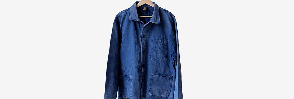 法國藍色工裝外套