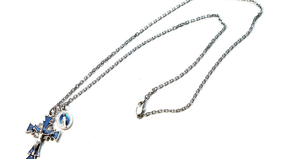 普魯士藍項鍊