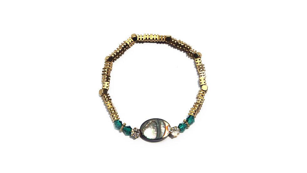 Flowers Shell Bracelet [花語彩貝珠串]