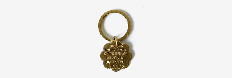 60's 美國黃銅寵物身份標牌