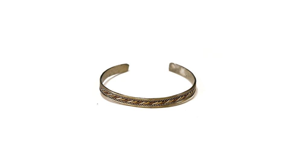 南亞三色銅手鐲 - 扭紋