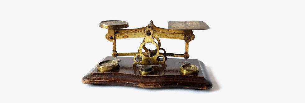 英國19世紀黃銅磅秤