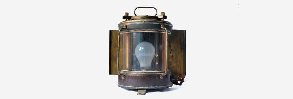 台灣老黃銅船舶用艉燈