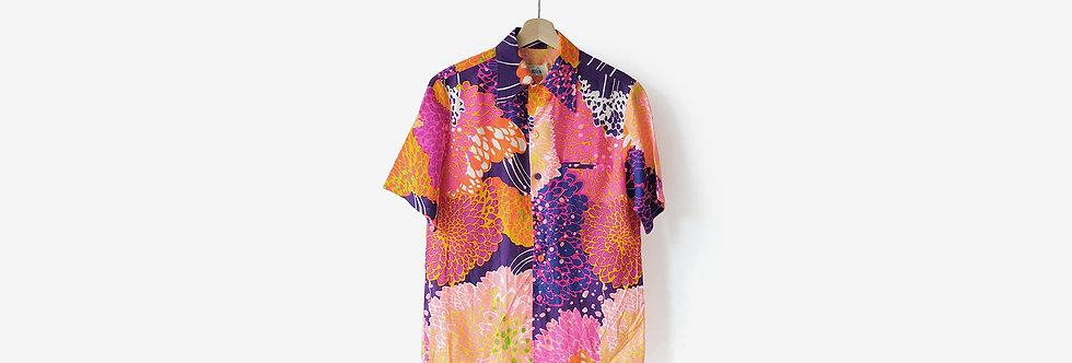 夏威夷製  Andrade Honolulu 人造絲襯衫