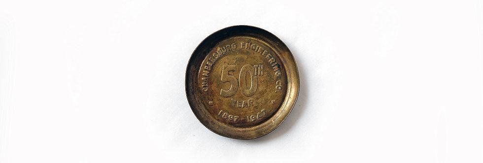 錢伯斯堡50年黃銅紀念盤