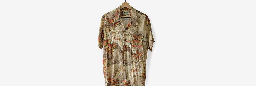 SunSurf FIRELAND 日製和柄夏威夷襯衫