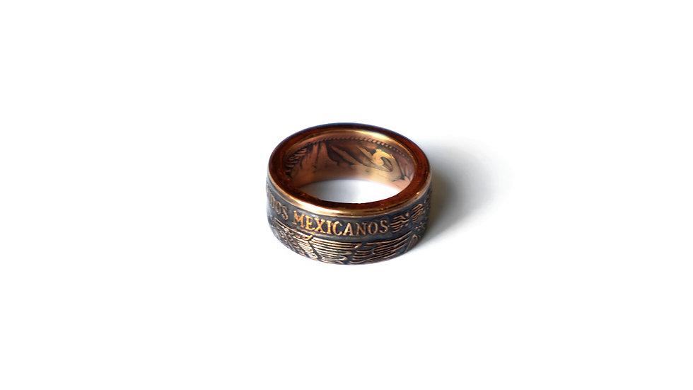 六十年代墨西哥10分錢幣戒指