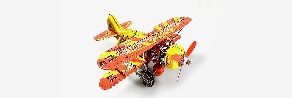Saint John 鐵皮玩具 - 森林救援雙翼機