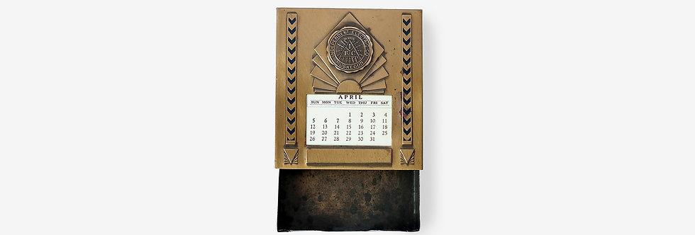 Metal Arts Co. 美國製紅銅萬年曆小抽屜