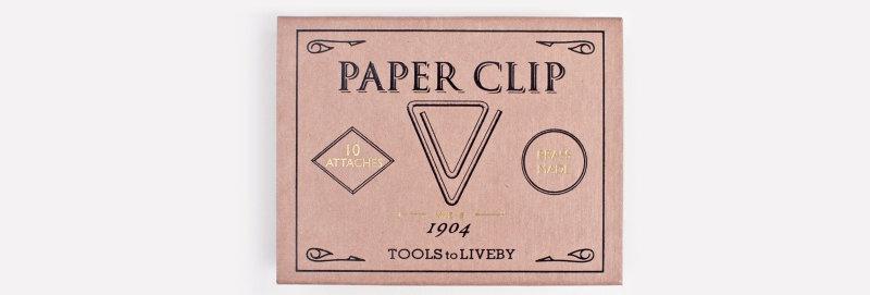 Tools to Liveby 禮拜文房具復刻黃銅迴紋針 (Weis)