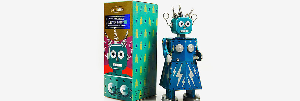 Saint John 鐵皮玩具 - 電器機器人