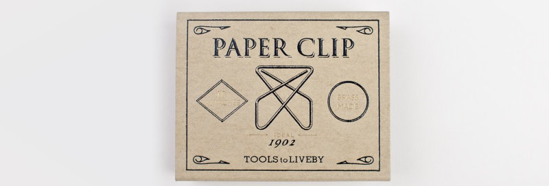 Tools to Liveby 禮拜文房具復刻黃銅迴紋針 (Ideal)