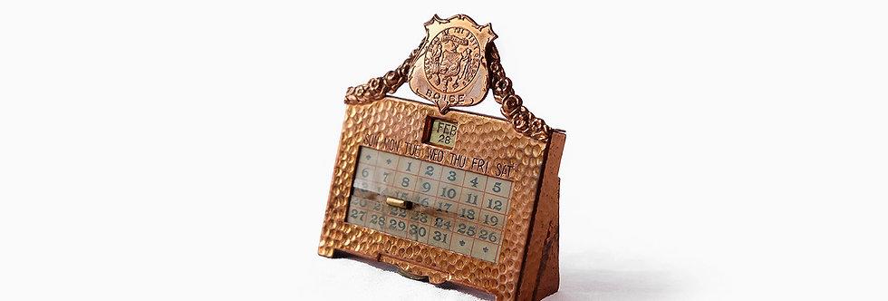 愛達荷州紀念紅銅萬年曆
