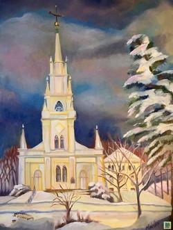 """A Winter Street on Winter"" SOLD"