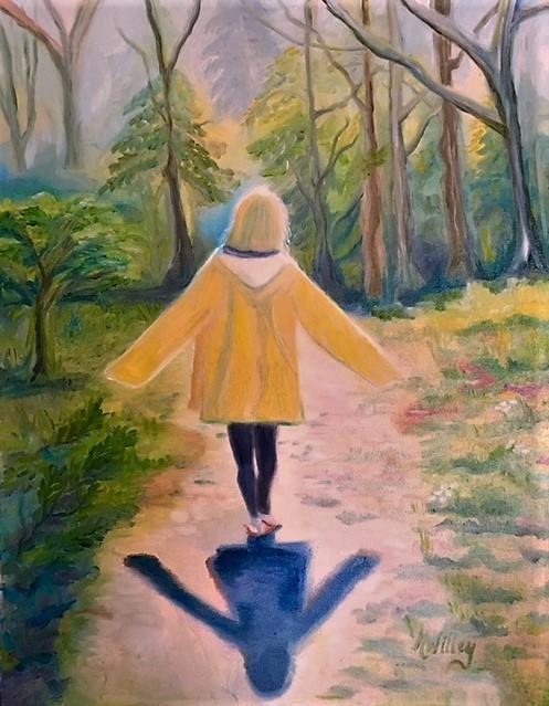 """Yellow Raincoat"" - SOLD"