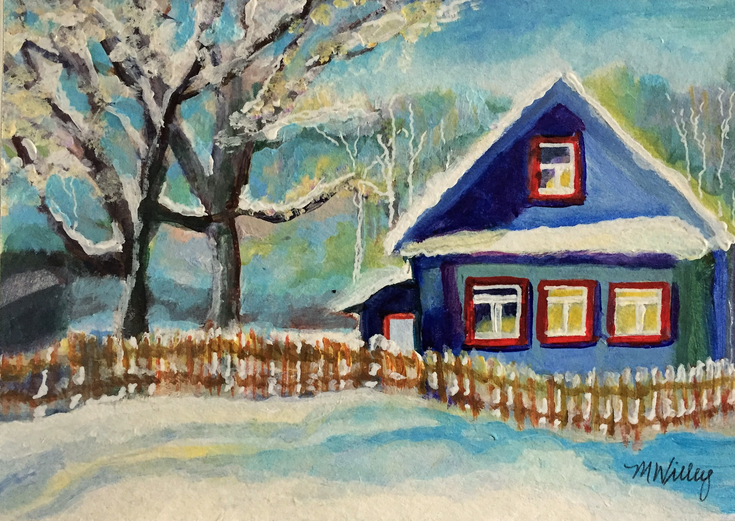 """Blue Winter Home"" - sold"