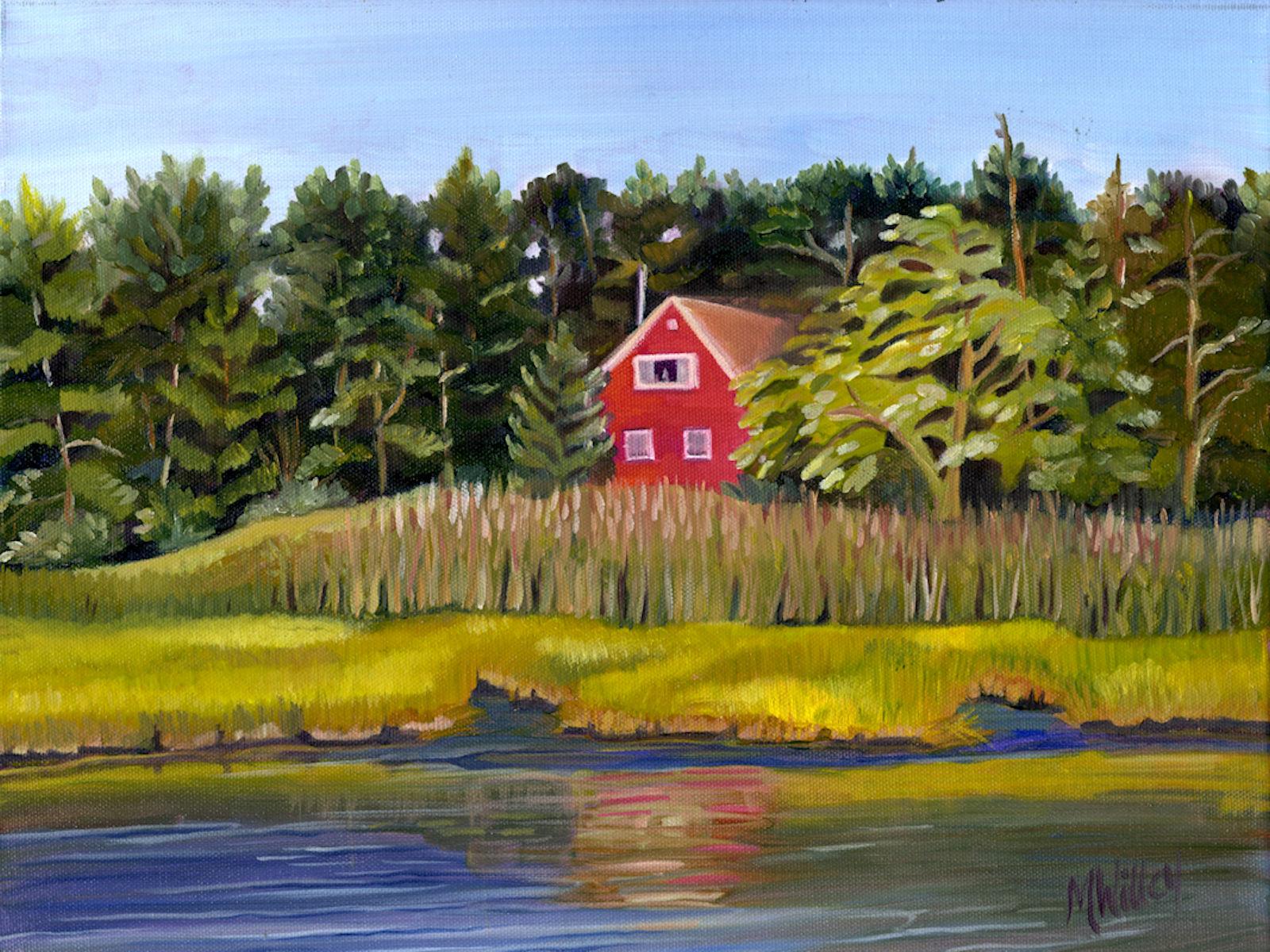 """""""Red House Across the Marsh"""""""