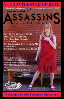 """Sararose Willey plays """"Squeaky"""", Assissins, Studio Theatre of Bath"""