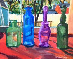 """Bottles by the Window"""