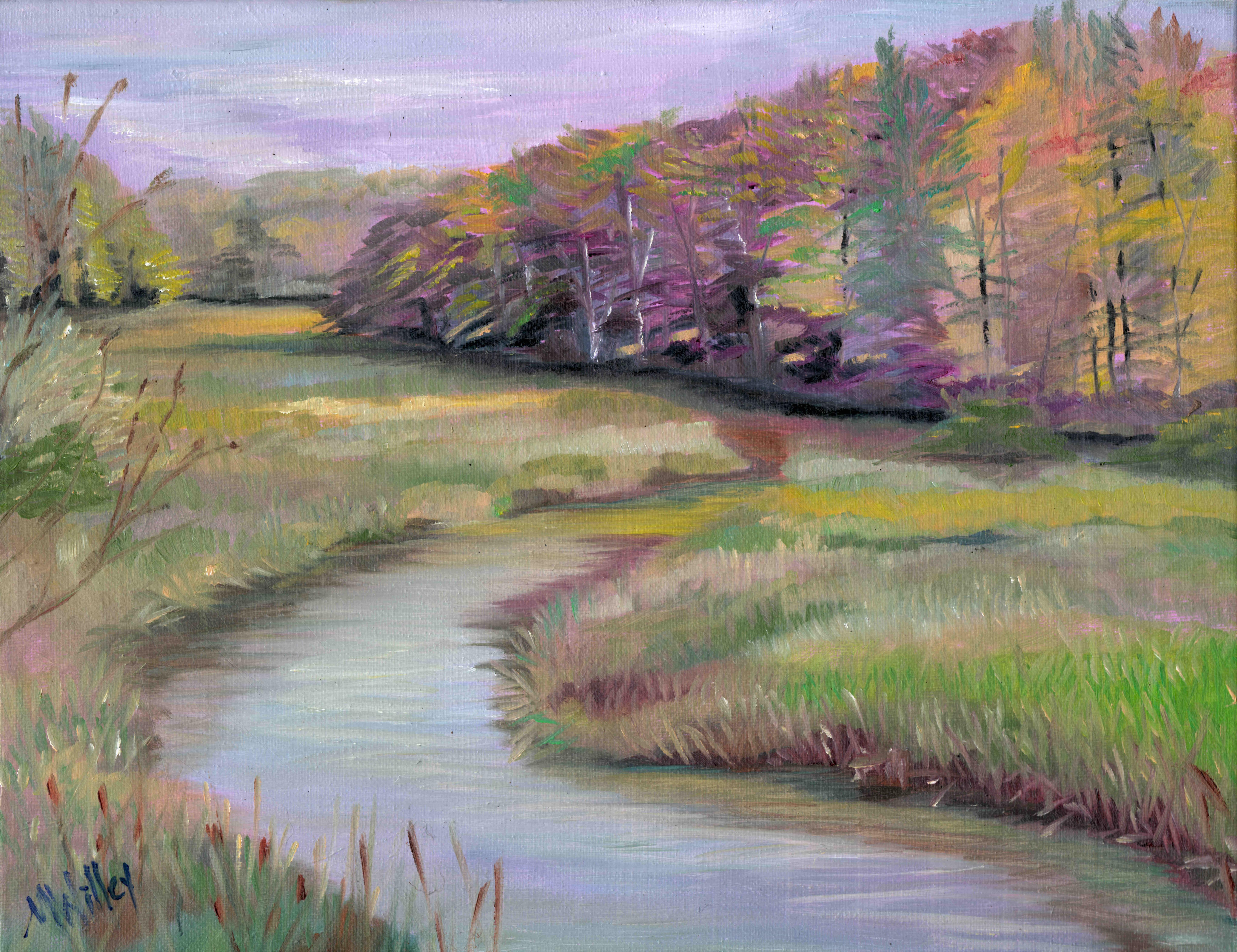 """""""Maine Marsh"""" View 1 - SOLD"""