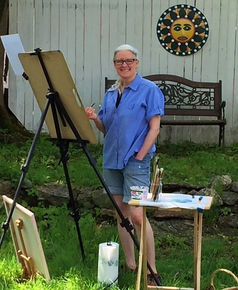 Image of me painting in yard.JPG