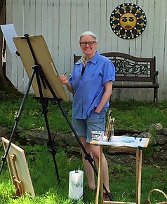 Image of me painting in yard.JPG
