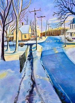 """""""Walking Home on High"""" - sold"""