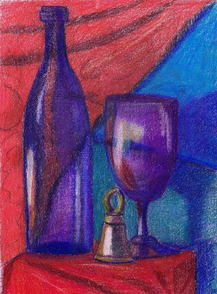 """Blue Wine Blue Goblet"""