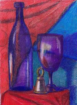 """""""Blue Wine Blue Goblet"""""""