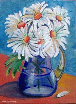 """""""Winter Daisies"""" - sold"""