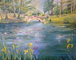 """Lilly Pond & Bridge"" - SOLD"