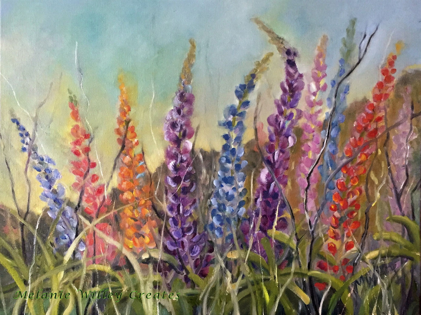 """""""Lupines"""" - SOLD"""