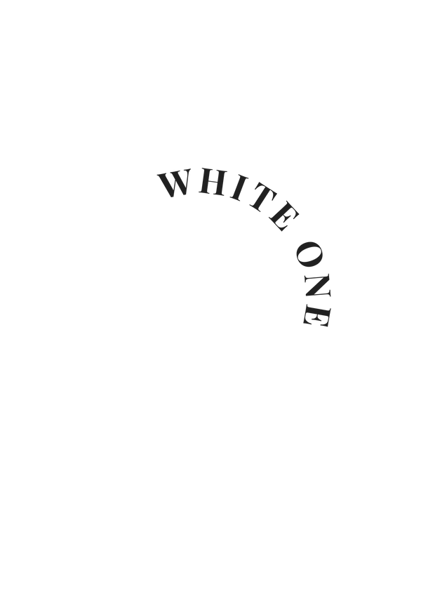 This image says 'white one' of the designers featured in the boutique