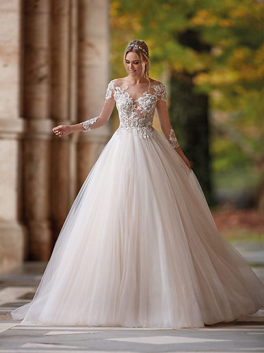 a full skirt princess ballgown from the designer nicole milano