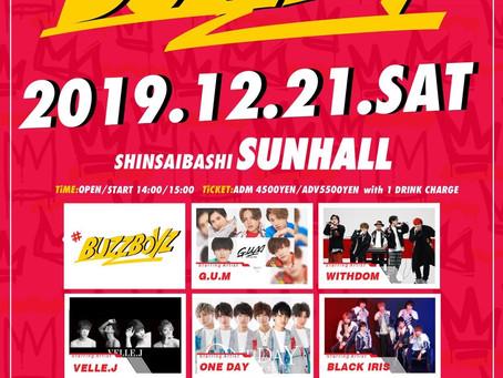 2019/12/21(土)大阪@心斎橋サンホール