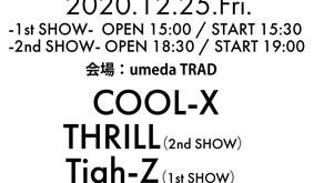 2020/12/25(金)大阪@梅田TRAD