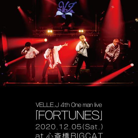 2020/12/05(土) VELLE.J 4th One man live 「 FORTUNES 」 大阪@心斎橋BIGCAT