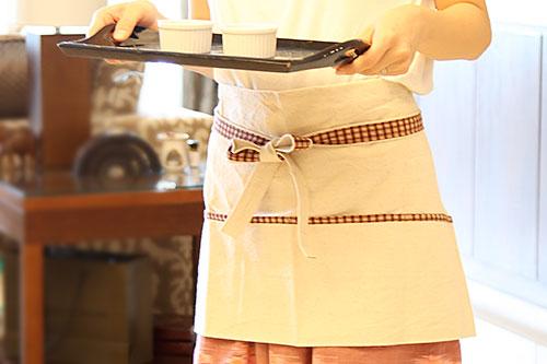 Handmade cafe-apron