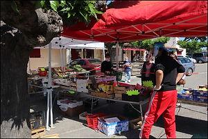Reprise du marché à Moussac