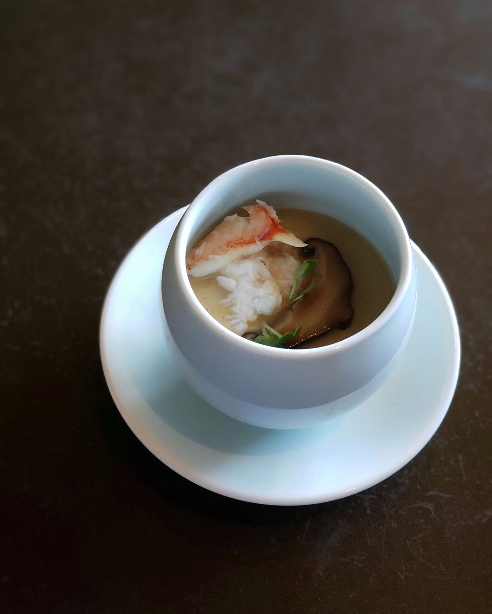 Chawanmushi with Blue Crab and Mushroom.