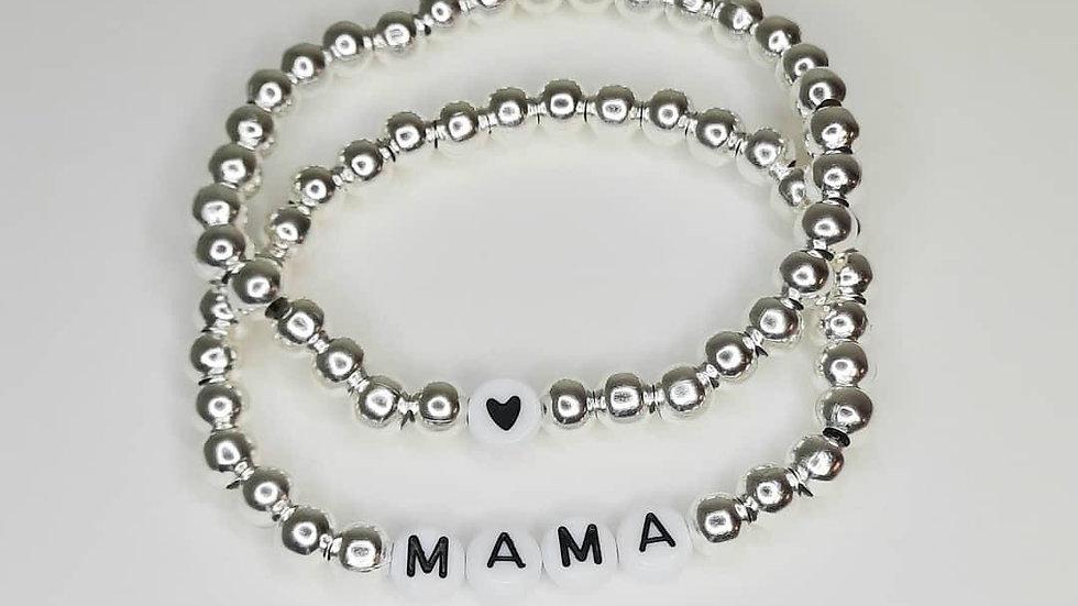 Mama stacking bracelet
