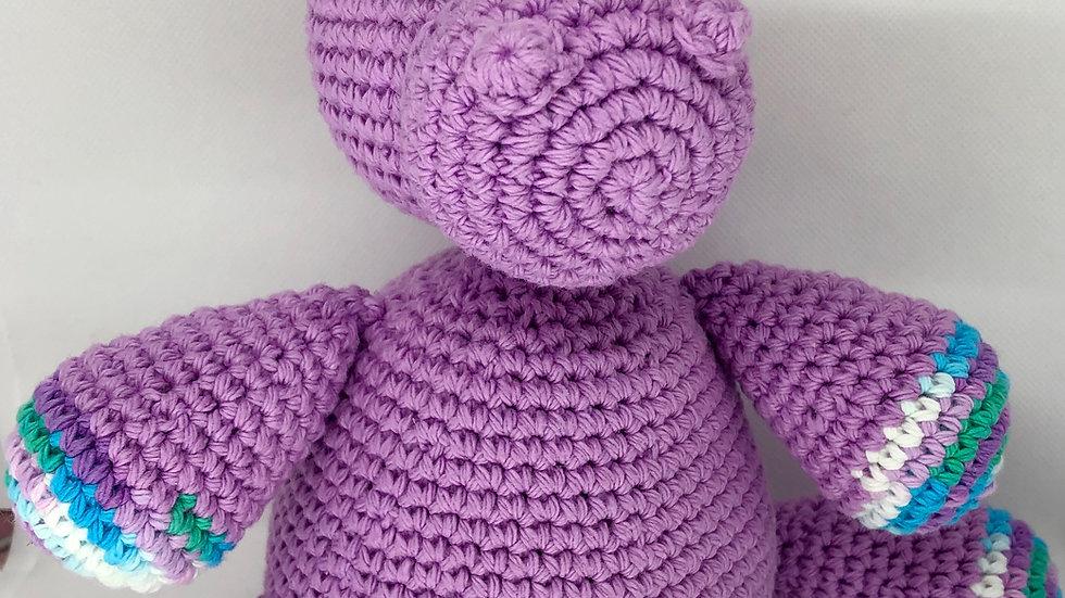 Crochet Hippo Stuffed Animal