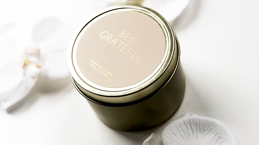 Bee Grateful Candle