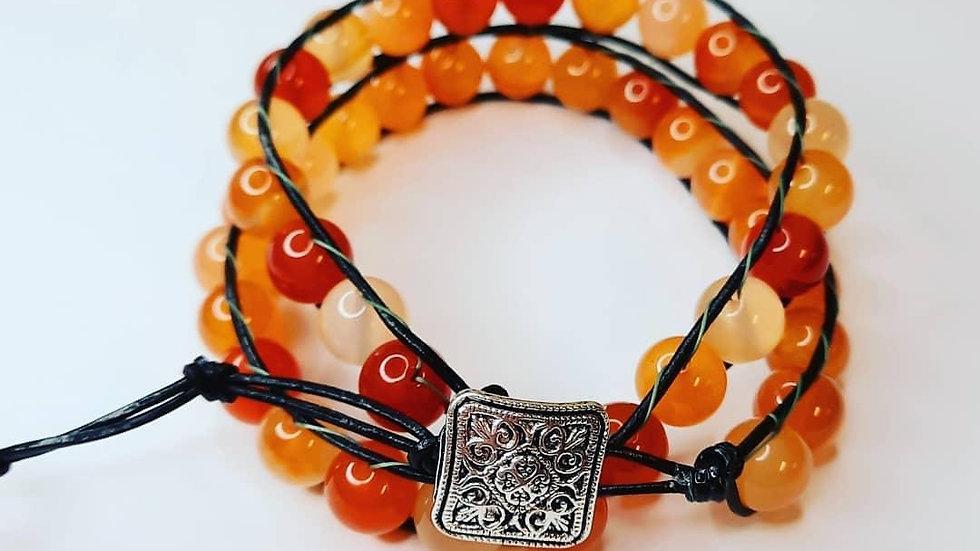 Double Leather Wrap Bracelets