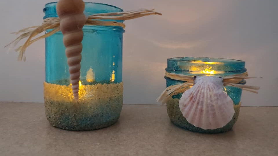 Seashell  Mason Jars